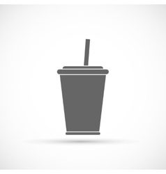 Soda with straw icon vector image