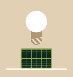 solar powered lamp vector image