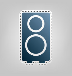 speaker sign blue icon with vector image