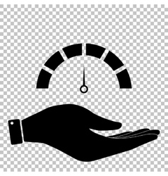 Speedometer sign Flat style icon vector image
