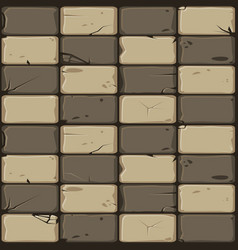 texture brown stone tiles seamless background vector image