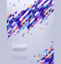 Trendy vibrant gradient report cover vector