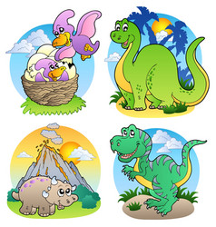 Various dinosaur images 2 vector