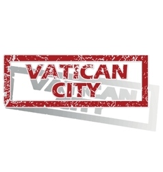Vatican City outlined stamp vector