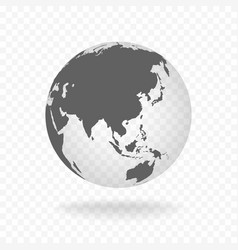 white gray globe glass transparent vector image