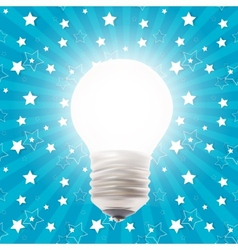 White Lamp on the Background vector image