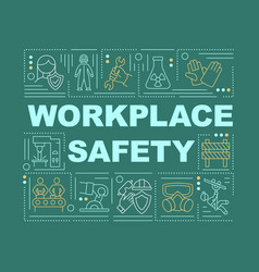 Workplace safety word concepts banner vector