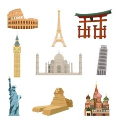 World famous landmarks vector image