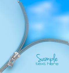 zipper sky backgorund vector image