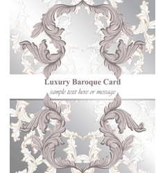 baroque card decor for invitation wedding vector image vector image