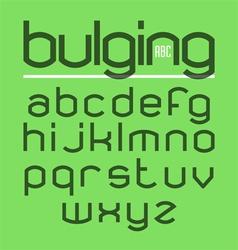 Bulging typeface alphabet vector
