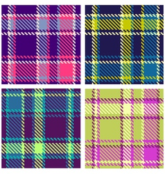 Set of Seamless Checkered Plaid Pattern vector image vector image