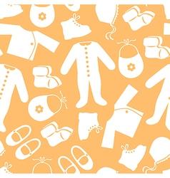 baby clothes pattern orange vector image vector image
