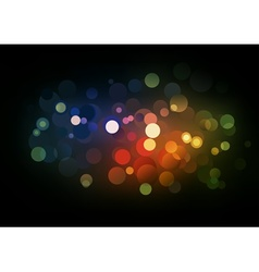 blurry lights vector image vector image