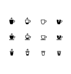 Coffee cup and Tea mug icons on white background vector image vector image