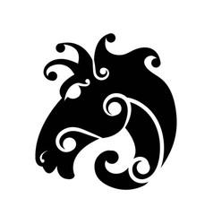 fairy styled tattoo horse head vector image