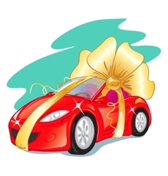 Gift car vector image vector image