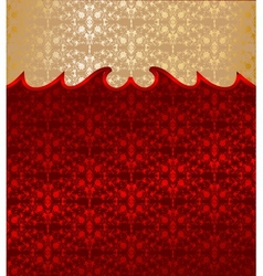 Gold and red floral background vector image vector image