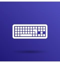 icon keyboard laptop input put key alphabet tool vector image vector image