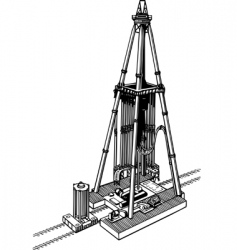 oil drilling rig vector image vector image