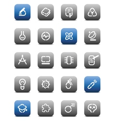 Stencil matt buttons for science vector image