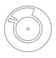 Vinyl record retro sound carrier black color path vector
