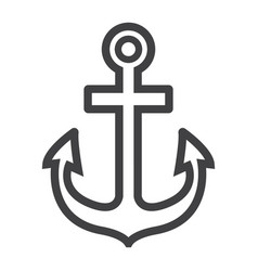 anchor line icon navigation and nautical vector image