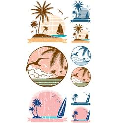 Beach symbols vector