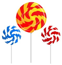 round shape lollipops vector image vector image