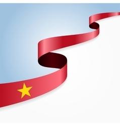 Vietnamese flag background vector image