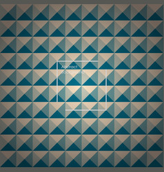 yellow and green abstract pyramid background vector image