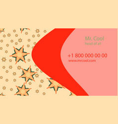 red yellow creative business card with vector image