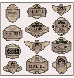Set of ornate labels vector image vector image