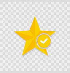 star icon check icon vector image