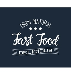 White logo for the fast food restaurant and vector image vector image
