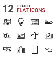 12 journey icons vector
