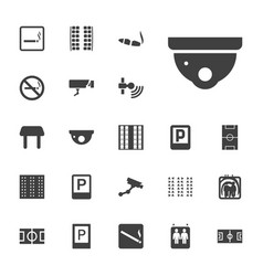 22 area icons vector