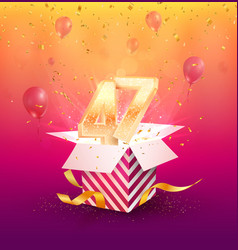 47th years anniversary design element vector image