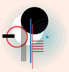 Abstract modern design circles and lines vector