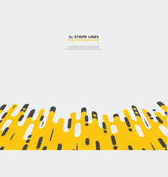 abstract yellow black stripe line pattern modern vector image