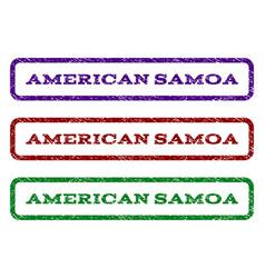 American samoa watermark stamp vector