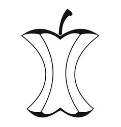 Apple stump icon simple style vector