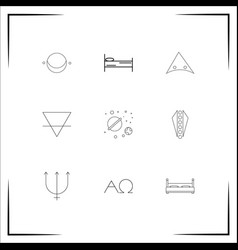 Astrology icons set outlined linear icons vector