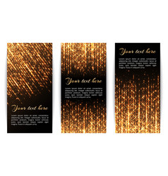 banners with golden sparkles vector image