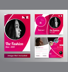 Bifold brochure design for fashion and products vector