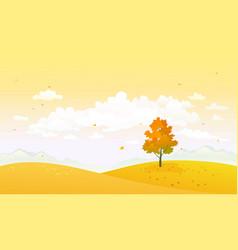 cartoon yellow autumn vector image