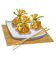 chinese dumplings vector image