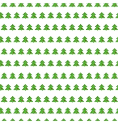 Christmas tree seamless pattern on white vector image
