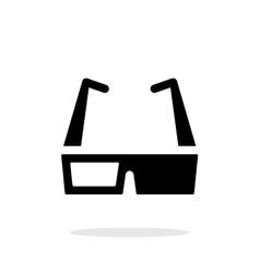 Cinema glasses simple icon on white background vector
