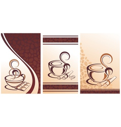 Coffee design with beans vector image vector image